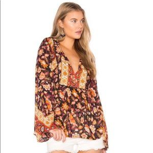 Spell & the Gypsy Collective Lolita Blouse-Rust, M